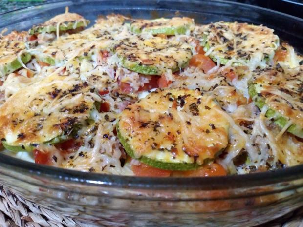 Pastel de atún y verduras