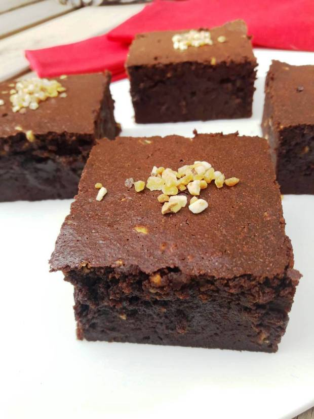 Brownie chocolate y café